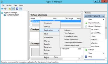 Hyper-V Replica ile Replikasyon Yönetimi