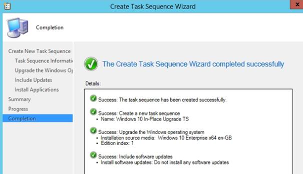 SCCM 2012 ile Windows 7 işletim sistemini Windows 10'a