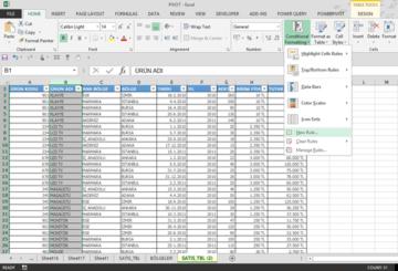 Conditional Formating Kullanarak Tekrarlanan Değerleri Gizlemek