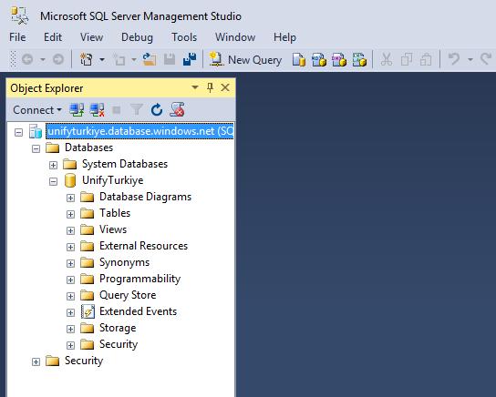 Microsot Azure SQL Database Oluşturma ve SQL Databese Connect