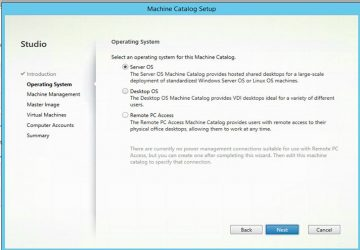 Citrix XenDesktop 7.12  Machine Catalog Oluşturma
