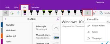 Windows 10 OneNote ile Kalemlerinizi Özelleştirin