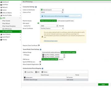 Fortigate 5.4.0 - VPN Portal nasıl oluşturulur?