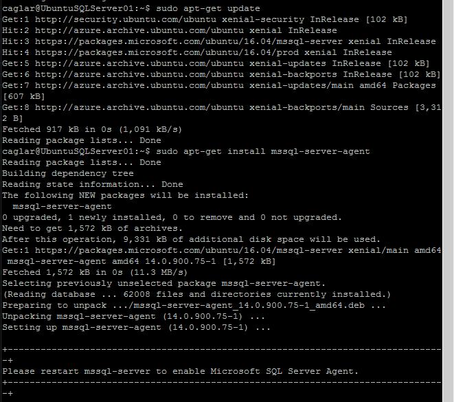 Microsoft Azure Linux VM üzerinde SQL Server Agent Kurulumu nasıl yapılır ?