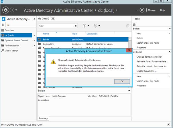 Windows Server 2012 R2 Active Directory Recycle Bin nasıl kullanır ?