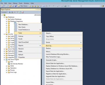 Microsoft SQL Server Yedek Alma (Backup) ve Yedeği Geri Yükleme (Restore) nasıl yapılır?