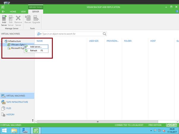 Veeam Backup & Replication'a Host nasıl eklenir?