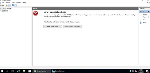 Windows Server – WSUS – Connection Error problemi nasıl çözülür?