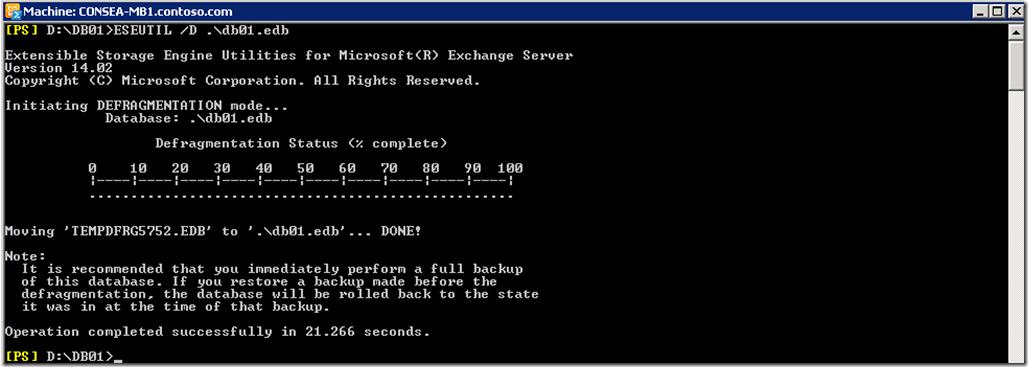 Exchange Server 2010 – Database Defragmentation işlemi nasıl yapılır?