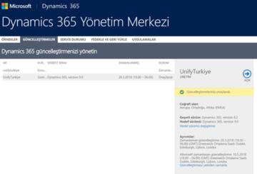 Microsoft Dynamics 365 - güncelleştirme nasıl yapılır?
