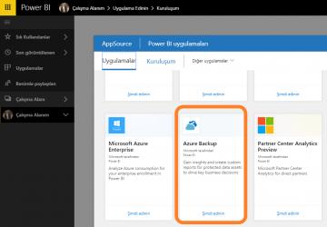 Azure Backup, Power BI ile daha anlamlı