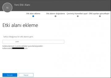 Office 365 – Etki alanı (domain) nasıl eklenir?