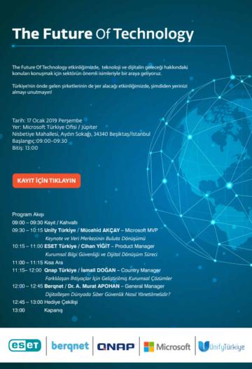 The Future of Technology etkinliğine davetlisiniz!