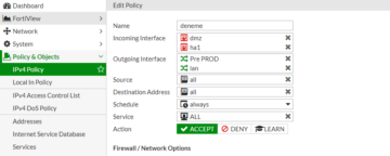 Fortigate Multiple Interfaces Policies nedir?