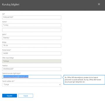 Azure AD Connect Sync Hata Bildirim E-Postası nasıl değiştirilir?